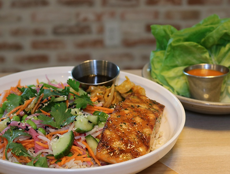 Salmon Bowl - Plantation Healthy Restaurant